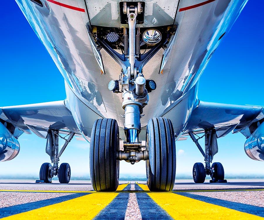 Underside of aeroplane