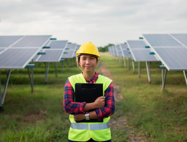 Solar power female